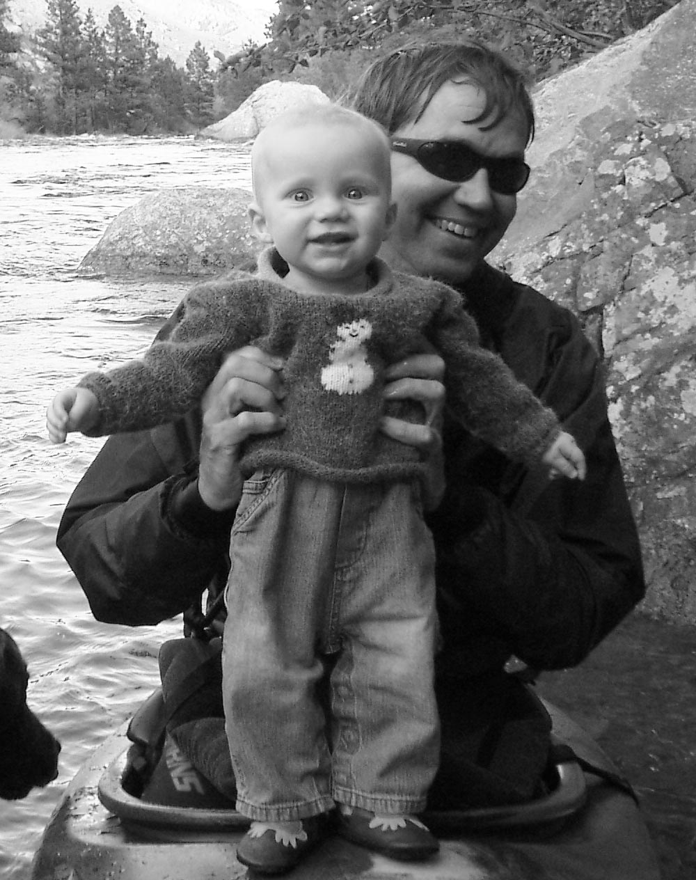 Click image for larger version  Name:Jensen June 2005 first trip to the Poudre3crop2 bw.jpg Views:175 Size:225.5 KB ID:470